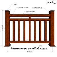WPC outdoor home garden fence