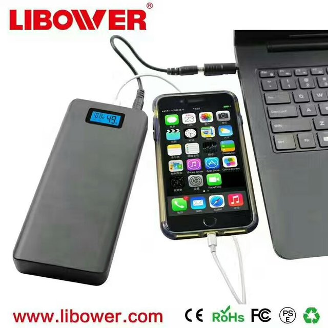 Libower New design hot sale wholesale power bank flexible power bank 15600 mah portable slim mi powerbank charger for smartphone