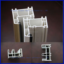 Economical upvc plastic profile for window and door frames supplier