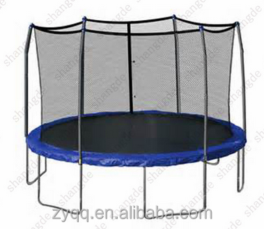 biggest trampoline 16ft trampoline exercise bungee with enclosure