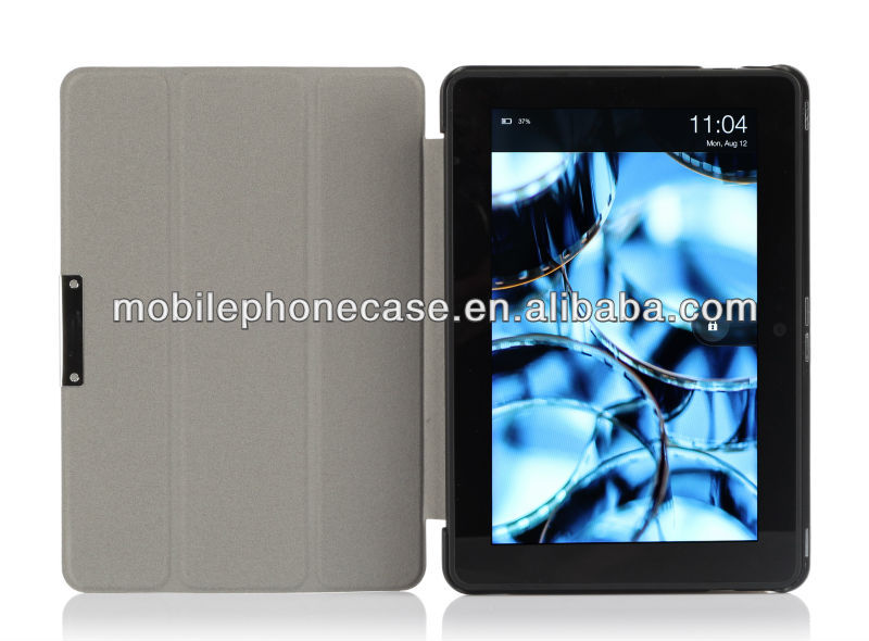 Fashion flip premium PU leather tablet case for Kindle Fire HDX 8.9 logo free
