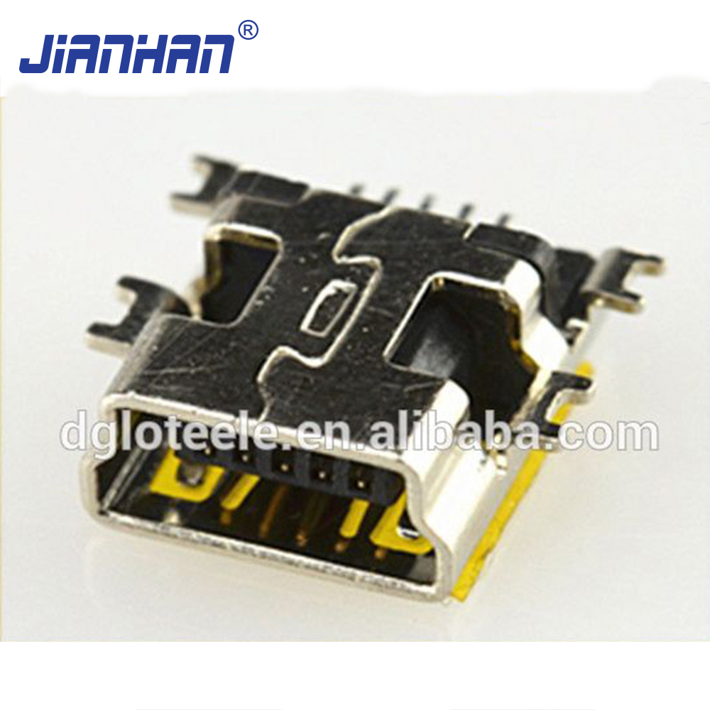 Female Mini USB Type B 5Pin SMT SMD Socket Jack Connector Port PCB Board