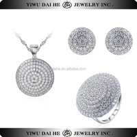 Crystal 925 Sterling Silver Jewelry Sets