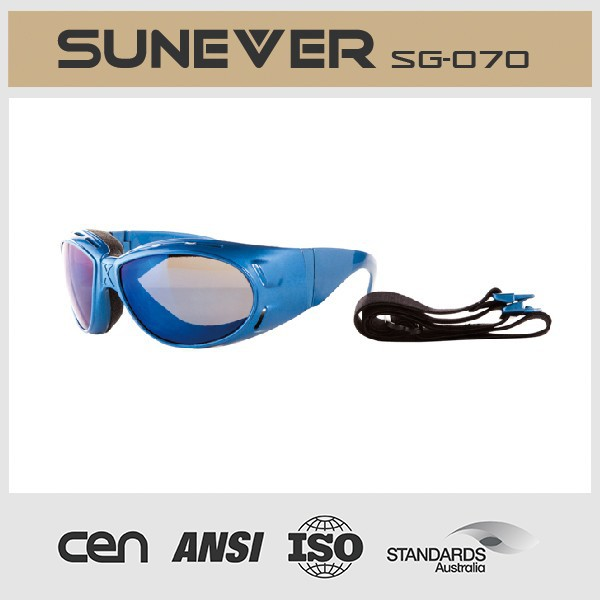 motor sunglasses with strap for rider and motorcycle