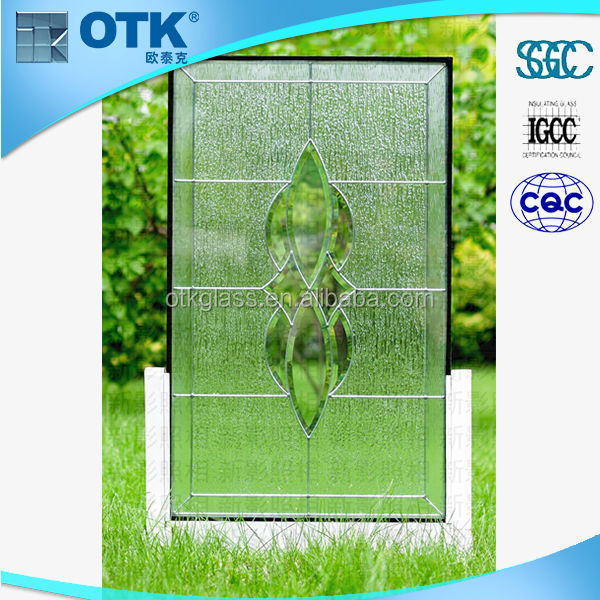 CE Clear and Colorful Ever Lucky high quality beveled decorative glass