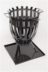 Firebasket with porcelain charcoal tray