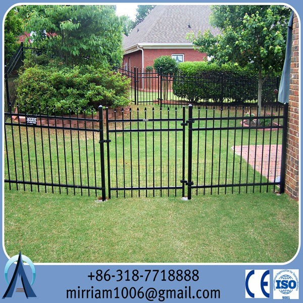 3 rail Ameristar Montage Commercial Decorative Steel Metal Fence