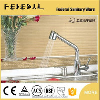 Deck mounted chrome plated bathroom sink faucets single handle single hole brass kitchen mixer faucet