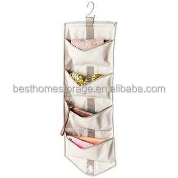 2017 High Grade Polyester Canvas Hanging Bra Organizer Closet Storage Bag Factory Direct Supply