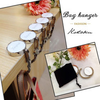 Zinc Alloy Material Purse Hook / bag hanger hook / table top bag hanger