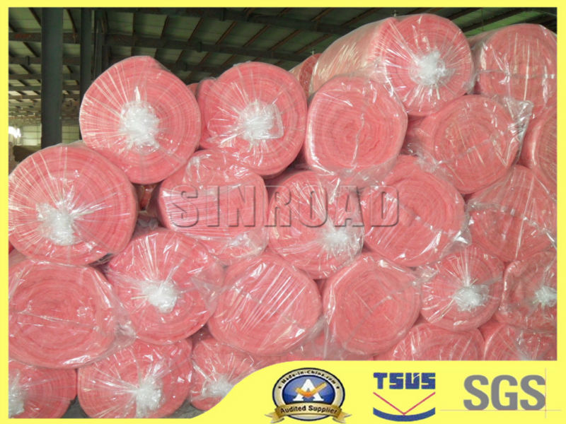 Vacuum Packing Pink Glasswool Felt Insulation