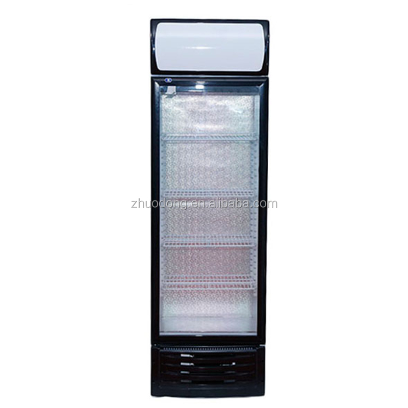 Factory price commercial used display freezer with led light
