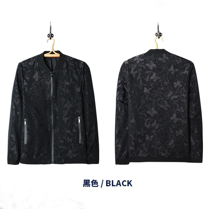 Men jacket 2017 high quailty 100% polyester black color camo printed bomber jacket men