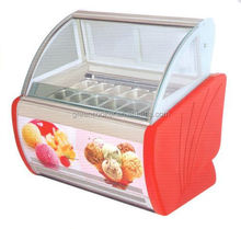 Refrigerated Ice Cream Display cabinet with 12 pans
