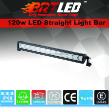 120W LED straight light bar ECE R10 Certified with Flood beam, spot beam and combo beam