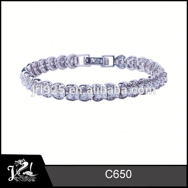 Rhodium plated rose gold plating cubic zirconia tennis bracelet solitaire finger ring