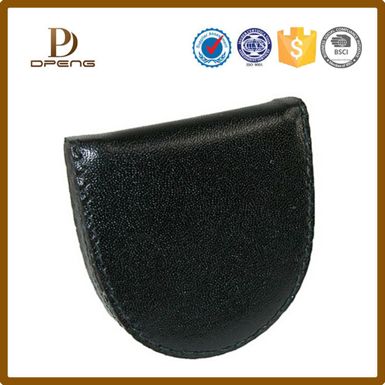 Wholesale high quality squeeze genuine leather coin purse for men