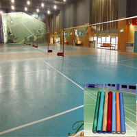 2016 hot sale top quality long life at low cost pvc sports flooring with CE / ISO9001/ISO14001