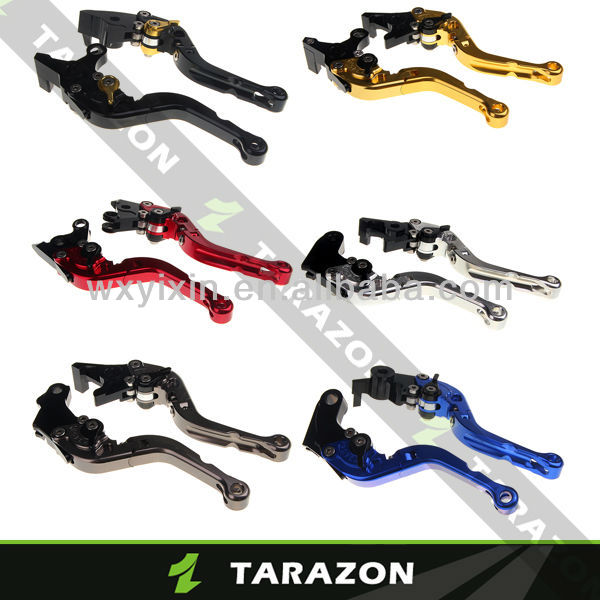 CNC Billet Alloy Aluminium Kawasaki ZX6R NINJA Adjustable Folded Motorcycle Clutch Brake Lever