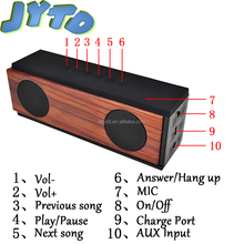 2017 Newest High Quality Bluetooth Speaker For Mobile Phone,bamboo Portable Mini Wireless Bluetooth Speake