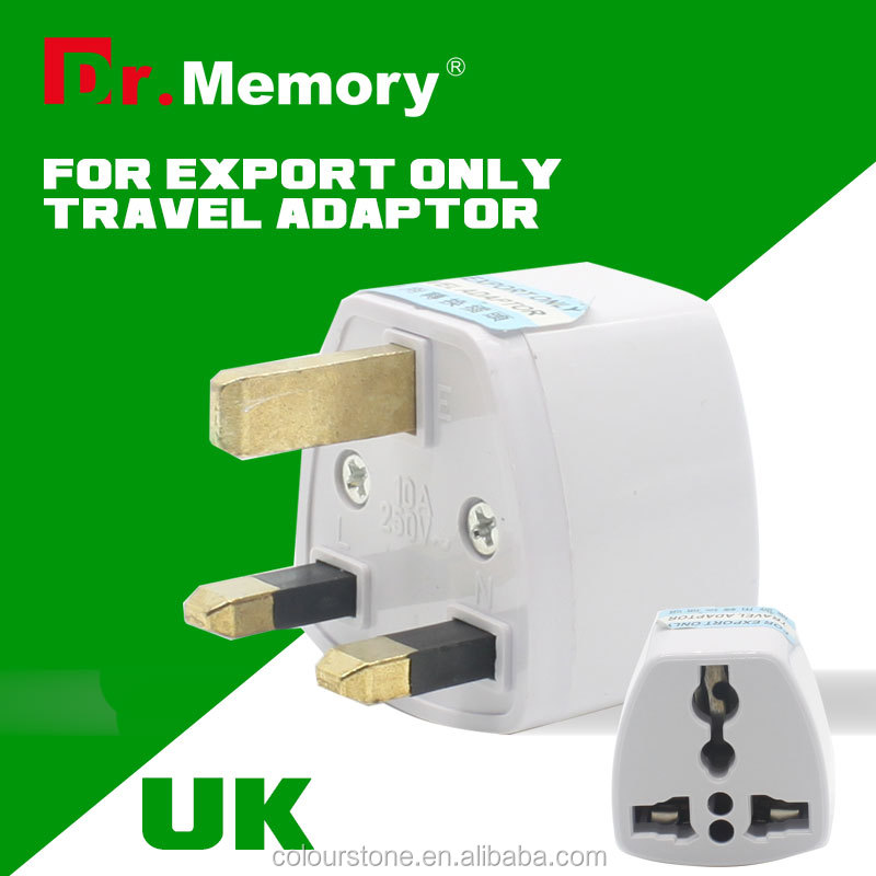 Dr.memory Universal Travel USB Charger Adapter Wall Portable UK Plug Mobile Phone Smart Charger for iPhone Tablet