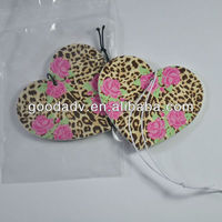 Fashion design Hanging Air Fresheners Scented Paper for Car/air freshener