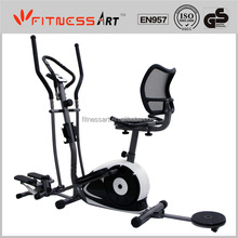 Magnetic Elliptical Bike with Twister, Stepper, Dumbbell, Elastic and Radio EB8603UR