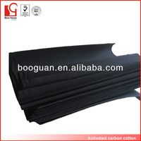 Supply black activated carbon cotton filter fabric