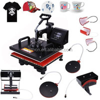 "Iglobalbuy Pro 8 IN 1 Plate Mug Cap T-Shirt Multifunctional Digital Heat Press Transfer Machine Sublimation 15""x12"""