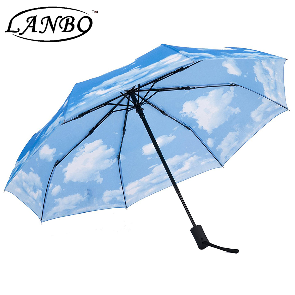 high quality automatic teflon folding travel umbrella golf umbrella
