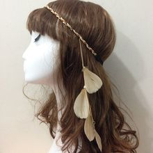 Hot sale indian boho hairband flapper feather headband