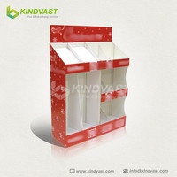 Custom attractive carboard cell diplay advertising rack