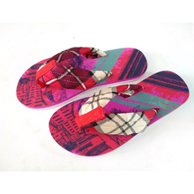 shoes stock lots Eva Pvc Beach Flat Custom Printed Flip Flops women Slipper eva shoe
