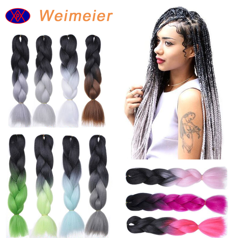 2017 hot sale cheap synthetic hair extension two tone ombre color jumbo braid,wholesale crochet braid hair