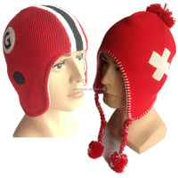 new computer flat knitting man and women's knitted winter earflap hats factory