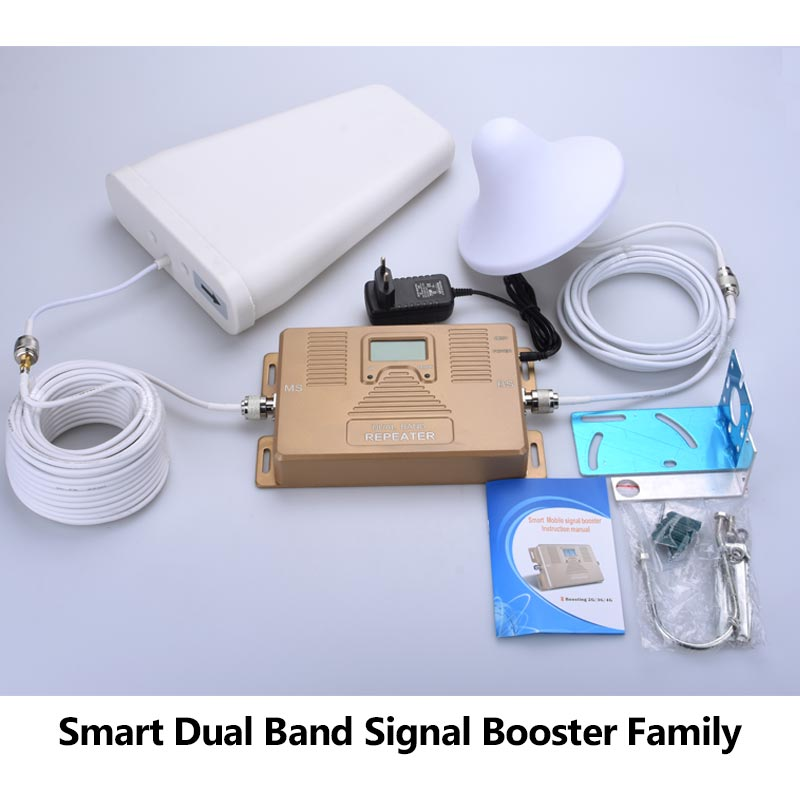 Dual band 800/2100mhz mobile signal booster repeater for Europe 3G LTE 4G signal