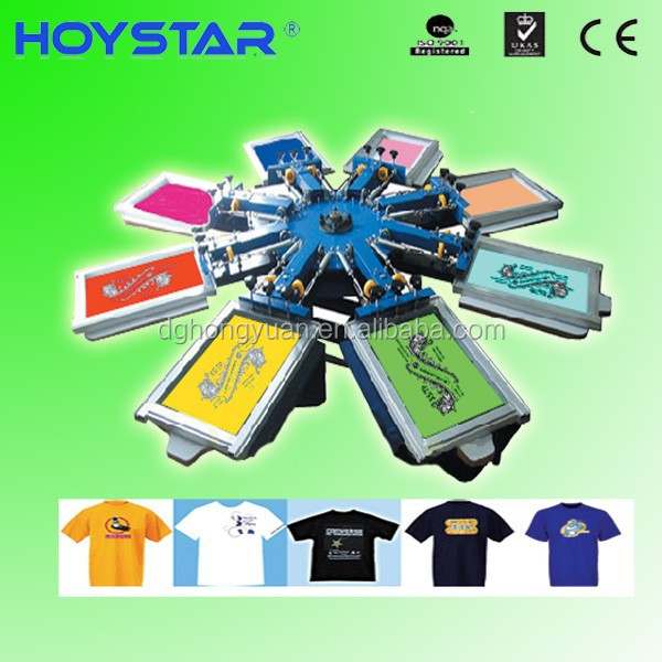 8 color used t-shirt screen printing machines