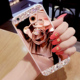 Glitter Luxury Phone Case For iPhone 6 6S Plus 5S 7 Plus 8 8PLUS Capa Women Diamond Mirror Bear Ring Holder Cover