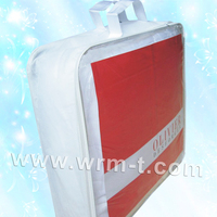 non woven bag with plastic zipper for shopping/recyclable non woven custom tote bag