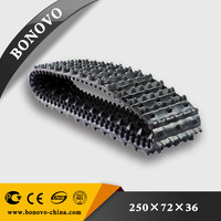 snowmobile rubber track 15x168 with a 2 inch made from natural rubber for sale for Excavator/Harvester