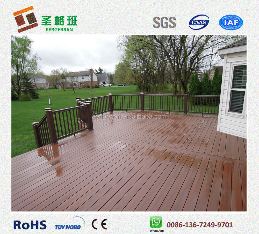 Red composite decking recycled plastic decking boards for The range decking boards