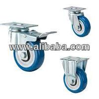 medium duty grey pu caster wheel