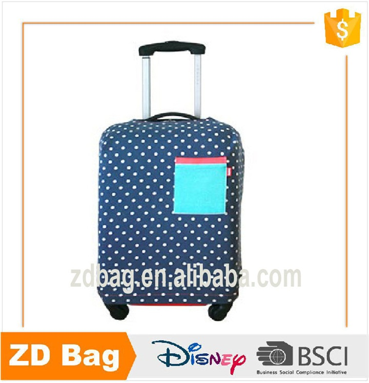 New design full color printing cotton/canvas luggage cover,colorful life luggage bag