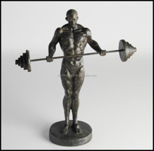 Christmas Decoration Resin Sport Figure WIth weightlifting Shape For Home Decoration and hotel design