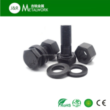 Low price M4 M6 grade 8.8 carbon steel hex head bolt and nut DIN933 DIN934