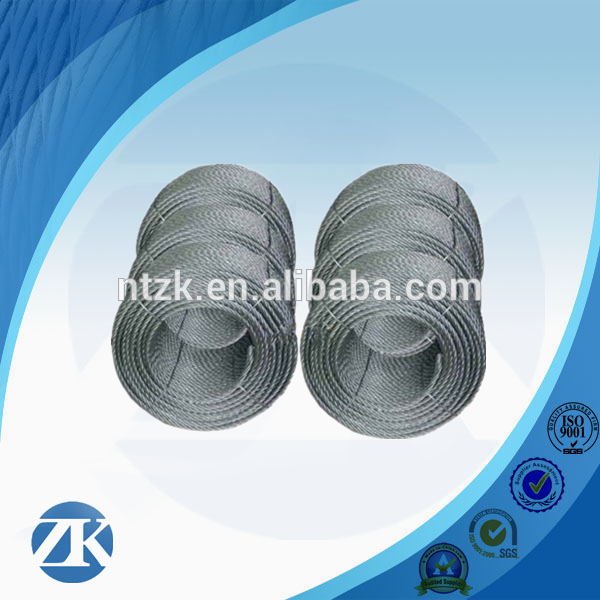 6*36 galvanized steel wire rope foreign trade