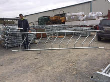 Gavanized heavy duty cattle metal corral panels bull rail pens livestock metal fence panels