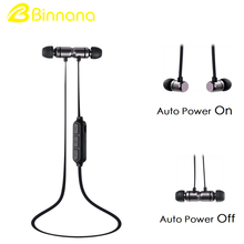 Factory Newest Product Metal In-ear Headset Sport Magnet Bluetooth Earphone