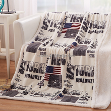 Ready Goods Printed Double Fabric Heavy Micro Mink Lambs wool Throws Blanket