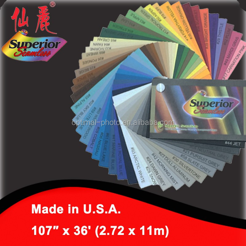 Superior Seamless Studio Photography Background Backdrop Paper Solid Color 107'' x 36' (2.72 x 11m) for Photography